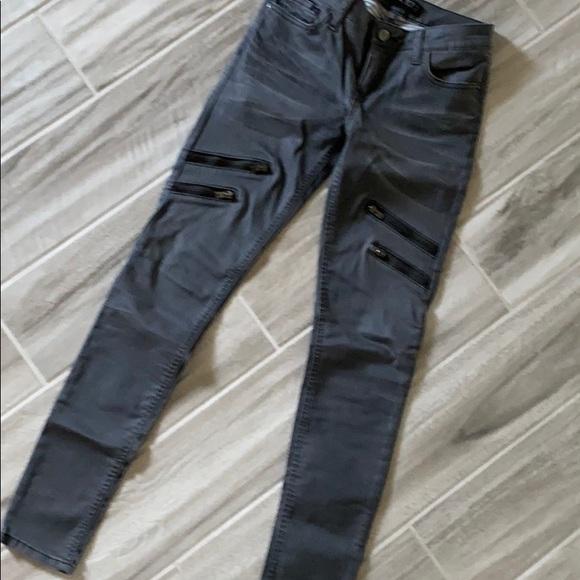 Zara grey jeans with zippers